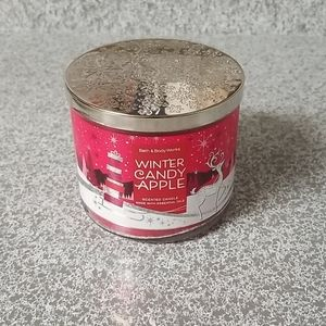Winter Candy Apple Holiday Candle